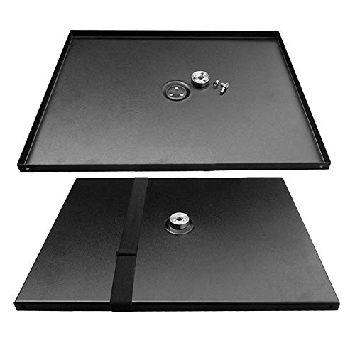 Vococal 34x24cm Universal Metal Tray Stand Platen Platform Holder for 3/8inch Tripod Projectors Monitors Laptops