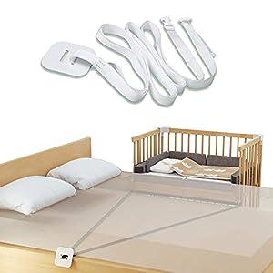 Correa para cuna de bebé, fijación de cuna auxiliar, fijación de cuna auxiliar, correa para camas auxiliares, correa para camas de canapé.
