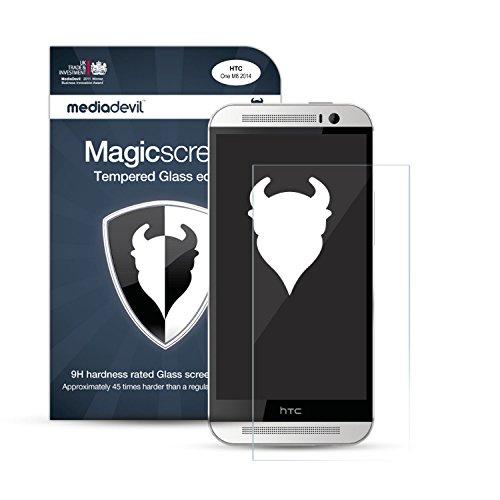 MediaDevil Pellicola Protettiva per HTC One M8 (2014) - in Vetro Temperato Crystal Clear (Invisibile) - (1-Pezzo)