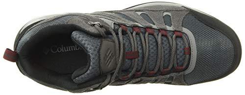 Columbia Men's Redmond V2 MID Waterproof Boot Hiking Shoe, Graphite/red Jasper, 9.5