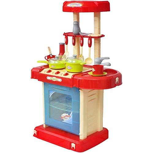 Mini Cocina Juego de rol, Cocinita de Juguete con Efectos de Luz y Sonido para Niños