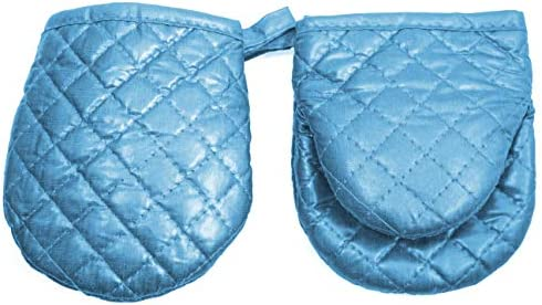 ARCLIBER Mini Oven Mitts 2 Pack of Quilted Cotton Lining Children Mitts Little Oven Gloves for product image