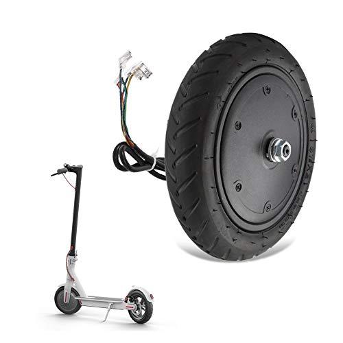 Zouminy Elektroroller Motor mit aufblasbaren Reifen, 250W Motor mit Radreifen für Xiao-mi M365 Elektroroller Ersatzteil Zubehör