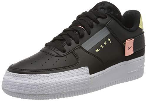 Nike Air Force 1 Type, Scarpe da Basket Uomo, Nero (Black/Anthracite/Zinnia/Pink Tint 001), 49.5 EU