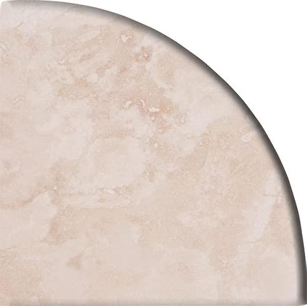 9 X 9 X 3 4 Round Edge Light Travertine Corner Shelf Piece Both Sides Honed Filled Pack Of 5