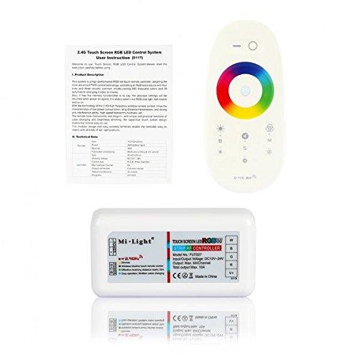 LAGUTE Fut-027 2.4 g Radio Control RGB LED Touch Dimmer Controller 12 V / 24 V 10A Panel RF White