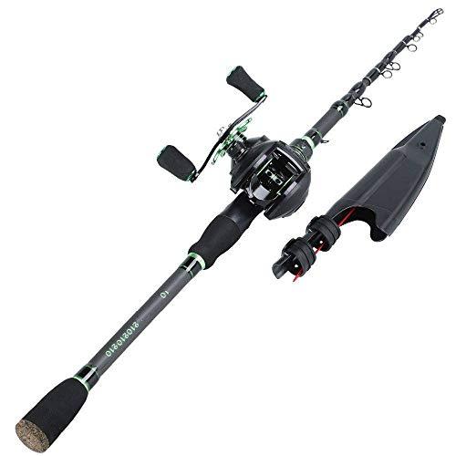 FISHYY Canna Da Pesca Canna Da Pesca Telescopica Con Mulinello Da Pesca Baitcasting Combo - Kit Bobina Bobina Da Pesca In Fibra Di Carbonio Portatile