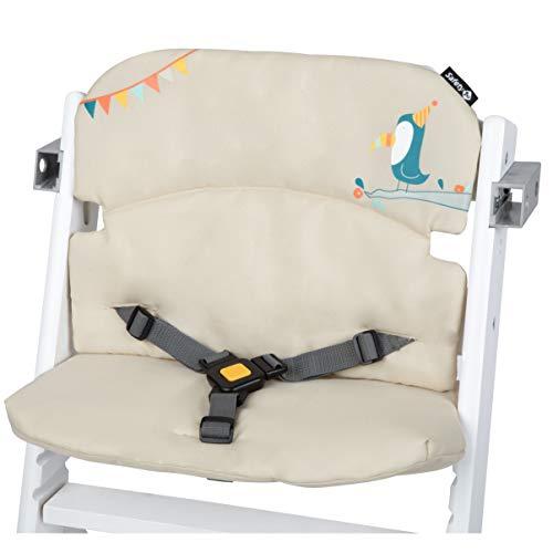 Safety 1st 2003560000 Timba Comfort Cushion, Hochstuhl-Sitzkissen, schnelle und einfache Befestigung, waschbar, bietet dem Kind noch mehr Komfort, Happy Day, mehrfarbig, 150 g
