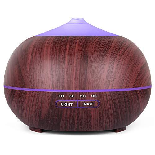 Diffusore di Oli Essenziali, Ultrasuoni Umidificatore Diffusore di Aromi con 7 Colori LED