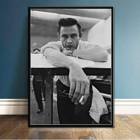 nr Poster und drucke Johnny Cash Rock Band Star Poster Wandkunst Bild Leinwand Ölgemälde Room Home Decoration-40x60cm rahmenlose