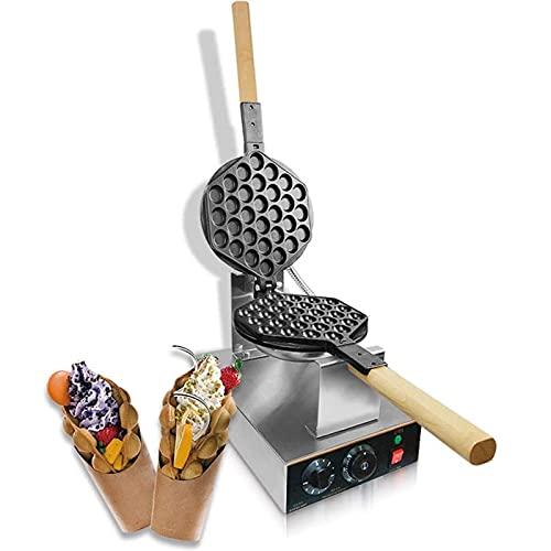 Waffle Irons antiaderente, máquina de waffle para ovos com temperatura ajustável Hong Kong para lanchonete, cafeteria ou casa Bubble Waffle Maker comercial