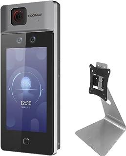 【認証速度約0.2秒】アイリスオーヤマ サーマルカメラ AI 測定距離0.3-2m 顔登録人数50,000人 置き型 受付 顔認証型 温度計 検温器 カウンタースタンドセット IRC-F6713SG
