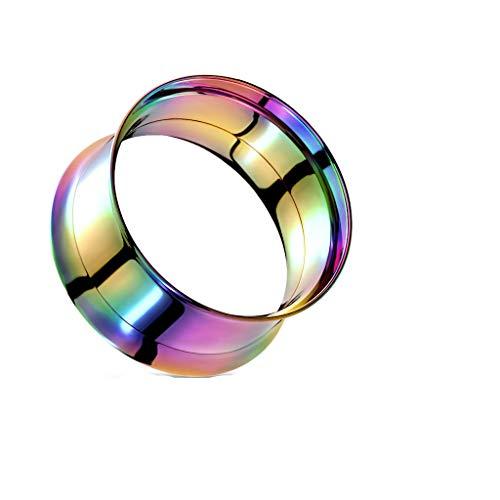 Tata Gisèle - Dilatador de oreja de acero quirúrgico 316L – Túnel doble extendido con tornillo – Diferentes tamaños y colores a elegir,