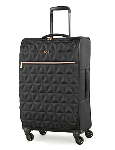 Rock Jewel 70cm Soft Sided Suitcase Four Wheel Travel Luggage Black