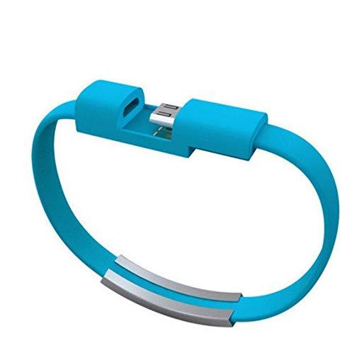 Shot Case Cable de Pulsera Lightning para iPhone 11 Pro Chrome Cargador Apple USB de 25 cm, Conector (Azul)