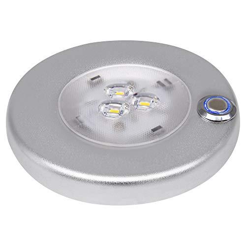 Facon 12V LED Slim Under Cabinet Light, mit dimmbarem Touch-Schalter und blauem Nachtlicht, 12V Innenbeleuchtung für Wohnmobile/Boote/Anhänger/Wohnwagen (1er-Pack)