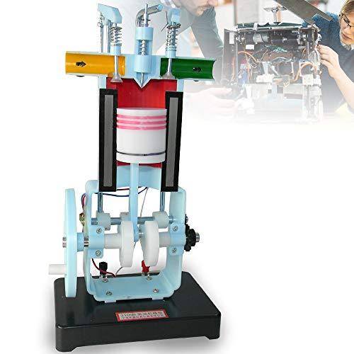 BTdahong 4 Takt Diesel Motor Fahrschule Schnittmodell Fahrschulmodell Physik Lehrmodell Modell 31009 Benzinmotor-Model für Physik Mechanik Experimentieren