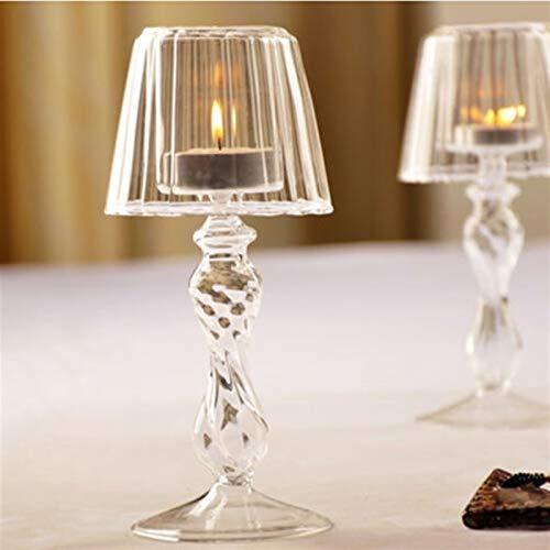 SUNXK Kristallglas Kerze Teelichthalter Tischlampe Dekoration SUNXK