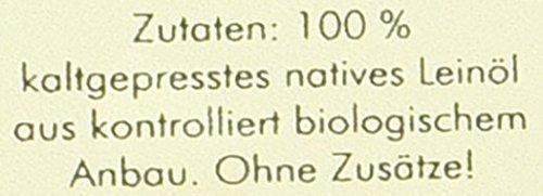 Manako BIO Leinöl human 2×250 ml ABSOLUT FRISCH ab Ölmühle Glasflasche, 1er Pack (1 x 500 ml) – Bio - 6