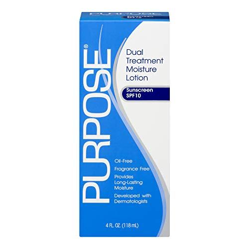 PURPOSE Dual Treatment Moisture Lotion, SPF 10 4 oz (Pack of 5)