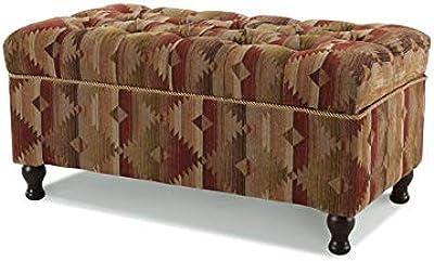 Amazon Com Skyline Furniture Walnut Hill Storage Bench In