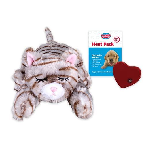 SmartPetLove Snuggle Kitty Jouet d'aide au comportement pour Animaux domestiques Tigre Brun Clair