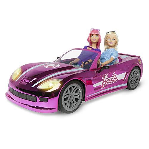 Mondo Motors - Mattel Barbie Dream Car cabrio glamour - macchina auto radiocomandata per bambini di barbie - due posti - dettagli realistici - colore rosa