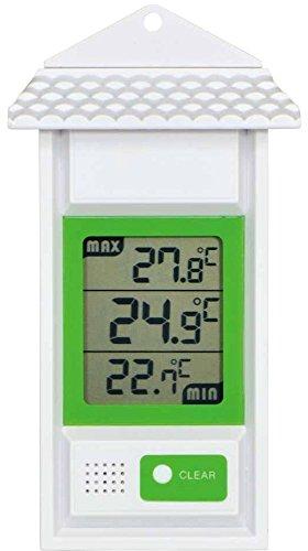 エンペックス気象計 温度計 デジタル最高最低温度計 壁掛け用 ホワイト TD-8155