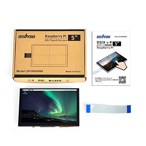 『OSOYOO 5インチTFT タッチスクリーン| DSIコネクタ| LCDディスプレイモニター |800×480解像度| ラズベリーパイ2 3 3B+ raspberry pi 4 用 |日本語説明書付き』の1枚目の画像