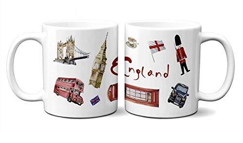 YantaiLtdUK Taza de café de Londres Reino Unido, 300 ml