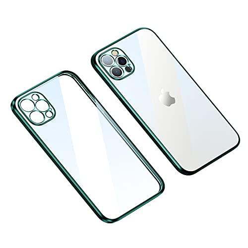 Custodia per iPhone 13pro Dazzle Protect Drop Case - Nano-vuoto placcatura non ingiallisce (iPhone 13 Pro, verde)
