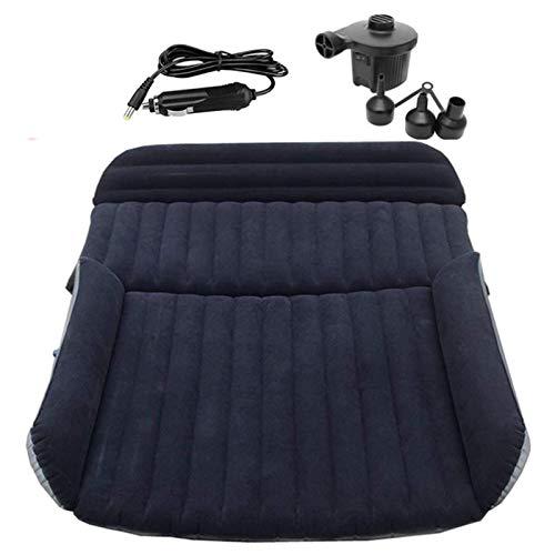 MKKYDFDJ Colchón de aire para coche, colchón inflable para protección del medio ambiente, resistente al frío, cama de viaje con bomba de aire, para camping, viajes, senderismo, viajes
