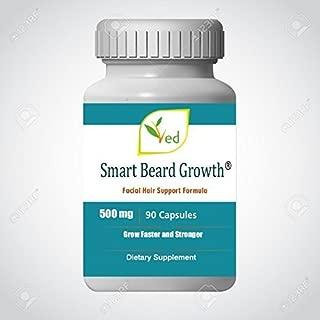 Beard Growth Capsules - 500 mg 90 Count Perfect Smart Beard Organic and Natural Formula