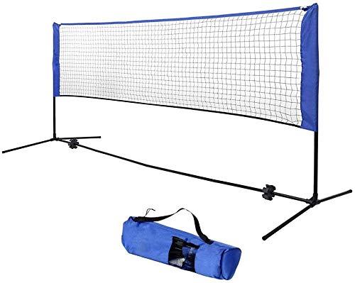 CHENGL Tragbare Standard-Badminton Net-Set für Tennis, Djustable Höhe Tragbare Badmintonnetz, Kinder-Volleyball, Tennis, Pickleball, mit Tragetasche, für Frei- / Hallenplatz,5m