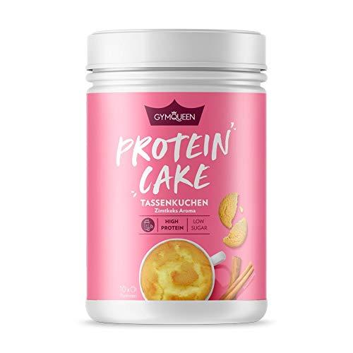 GymQueen Protein Cake 500g | High Protein Tassenkuchen für die Mikrowelle | Kalorienreduziert | Backmischung für Tassen Muffins oder Cupcakes mit viel Eiweiß | Zimtkeks Aroma