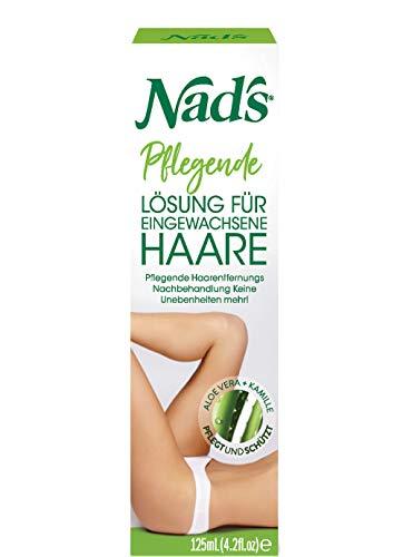 Nad's After Shave Balsam für eingewachsene Haare + Rasurbrand + Rötungen - Ingrown Hair Treatment Solution für Frauen + Männer; Nach der Rasur, Waxing und Creme; 125ml