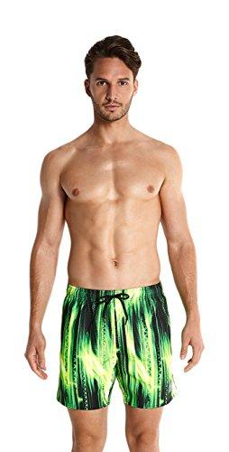 Speedo Leisure Short de bain Homme Iggy Iguana Noir/Vert Fluo/Jaune Fluo FR : M (Taille Fabricant : M)