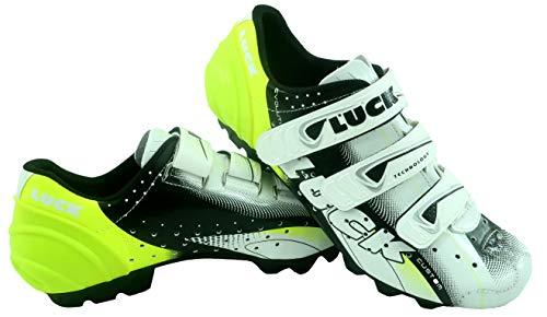 Luck Extreme 3.0 MTB Zapatillas de Ciclismo, Adultos Unisex, Amarillo, 46 EU