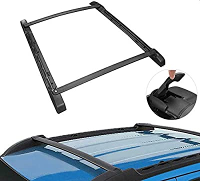 MOSTPLUS Roof Rack Cross Bar Rail Compatible for 2005-2019 Toyota Tacoma Double Cab Cargo Racks Rooftop Luggage Canoe Kayak Carrier Rack