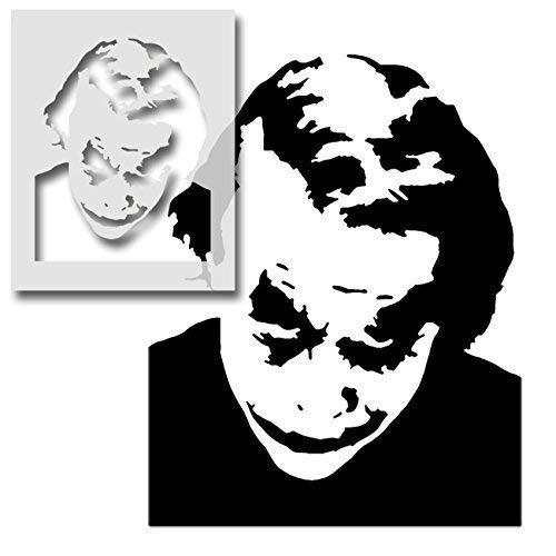 The Joker Schablone wiederverwendbar Kunst und Handwerk Schablone malen Bespoke Oberflächen Zu viele Artikel/Oberfläche - semi-transparent Schablone, XL/ 54X73CM