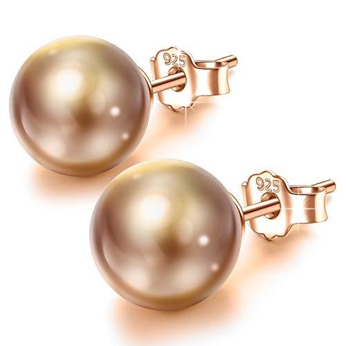 Susan Y aretes de perlas regalos del día de madres para mamá mujeres niñas perla de cristal swarovski joyería regalos de cumpleaños para damas su hermana novia aniversario regalos para esposa
