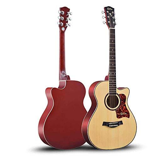 Boll-ATur 40 Zoll / 41 Zoll Fichte Panel Gitarre Anfänger Erste Schritte Lernen Guitar Traveller Gitarre Rose Holz Griffbrett Material Schwamm Dicke Gitarrentasche Plektren (Color : 40