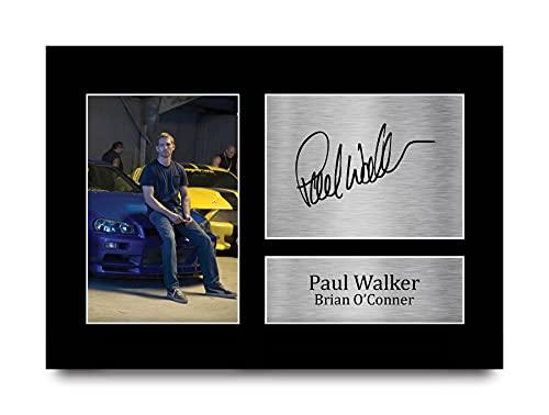HWC Trading Paul Walker A4 Ungerahmt Signiert Gedruckt Autogramme Bild Druck-Fotoanzeige Geschenk Für Brian O'Conner Fast & Furious Filmfans