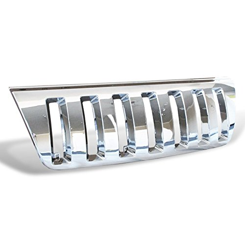 ZMAUTOPARTS Front Upper Grille Grill Chrome Compatible with 1999-2004 Jeep Grand Cherokee
