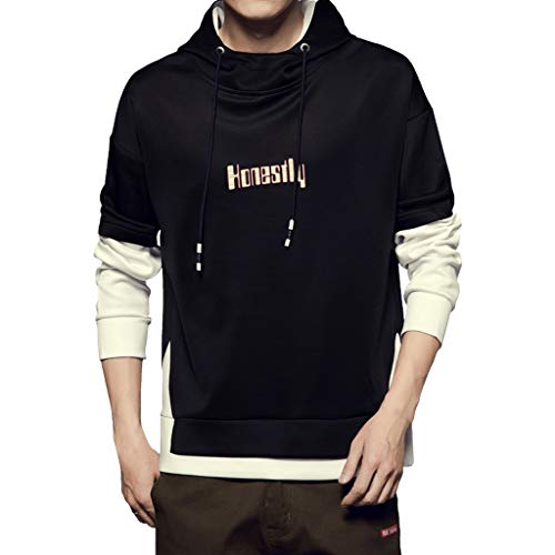 IFOUNDYOU Herren Hoodie Kapuzenpullover Fashion Casual Cap Guard Reine Farbe Komfortable Casual Mode Kleidung Bluse Sweatshirt Männer Sweatjacke