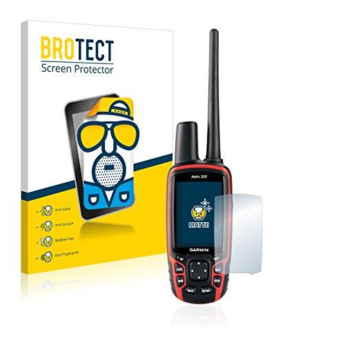 BROTECT Protector Pantalla Anti-Reflejos Compatible con Garmin Astro 320 (2 Unidades) Pelicula Mate Anti-Huellas