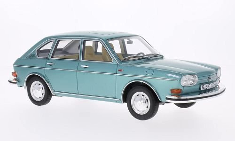 VW 411, metallic-türkis, 1969, Modellauto, Fertigmodell, BoS-Models 1 18