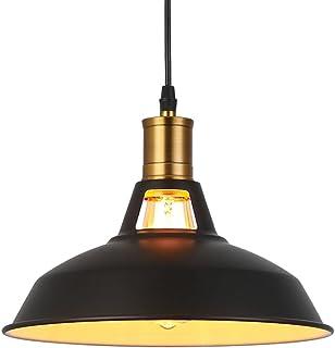 Métal Retro Suspensions Luminaires Industriel Edison Simplicité Lustre Vintage Plafonnier Suspension avec Abat-jour Brilla...