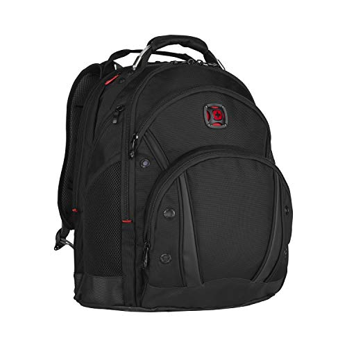 Wenger 605074 Synergy 16' Backpack with Shock Absorbing Shoulder Straps In Black {30 Litres}