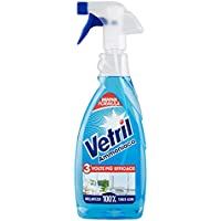 vetril–Amoniaco, Detergente para lunas y multiuoso sin muebles–3unidades de 650ml [1950ml]